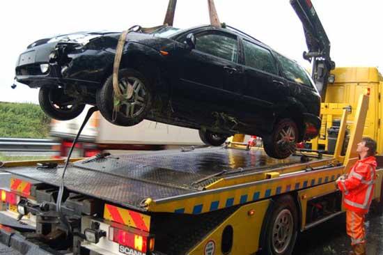 berging van een auto Poort Hoogkerk